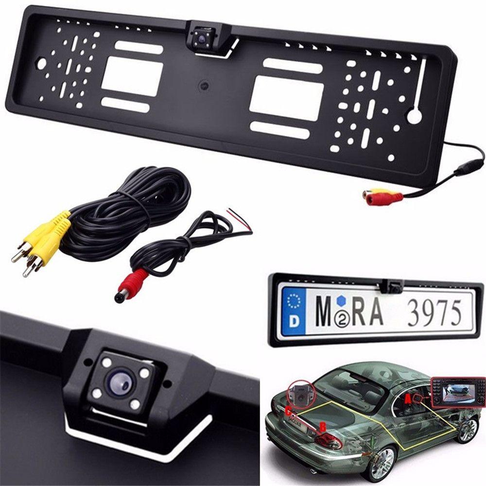 New Car Rear View Telecamere Impermeabile Europa Cornice Targa con Telecamera Posteriore Incorporato Mini Telecamera Posteriore