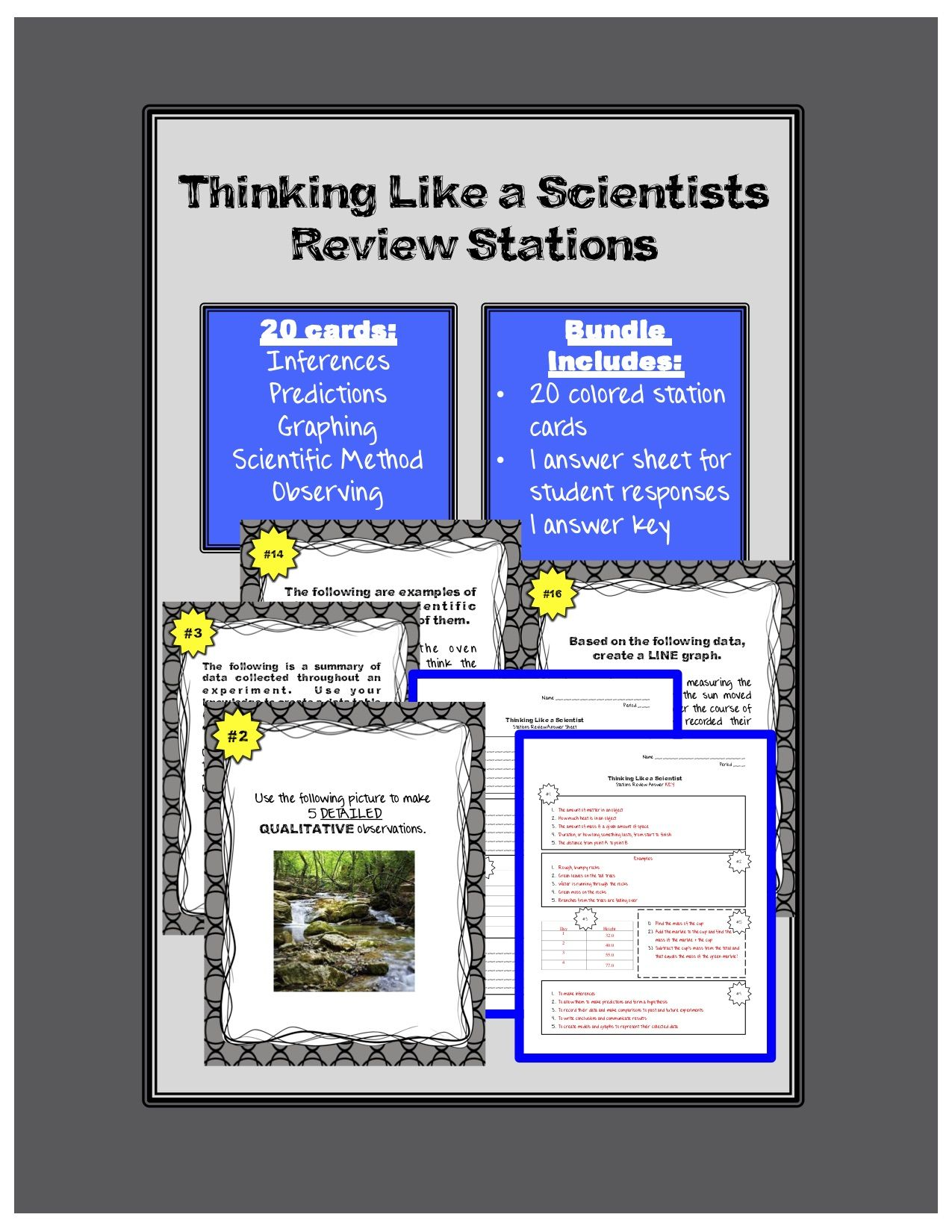Review Stations Thinking Like A Scientist Skills