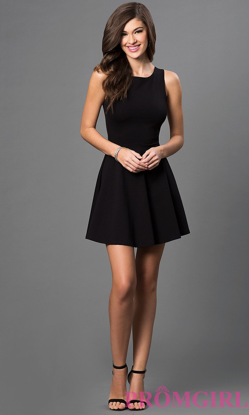 Sleeveless Little Black Dress with Cut Out Back | Simple, Sweet ...