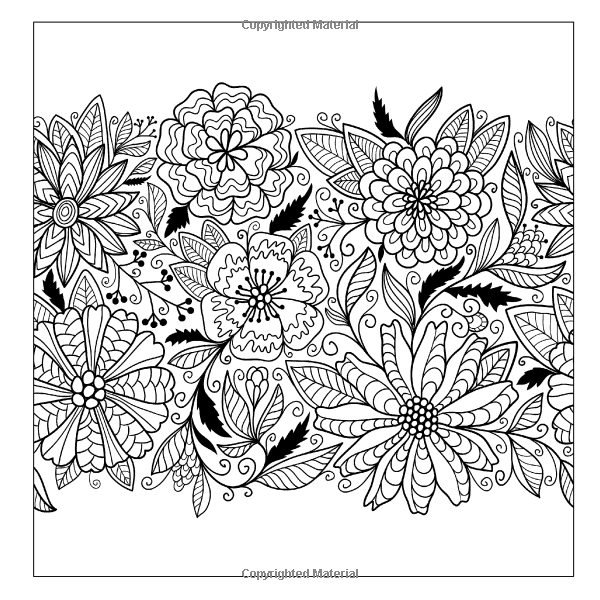 Lilt Kids Coloring Books Beautiful Floral Designs And Patterns Flower Garden Book Volume