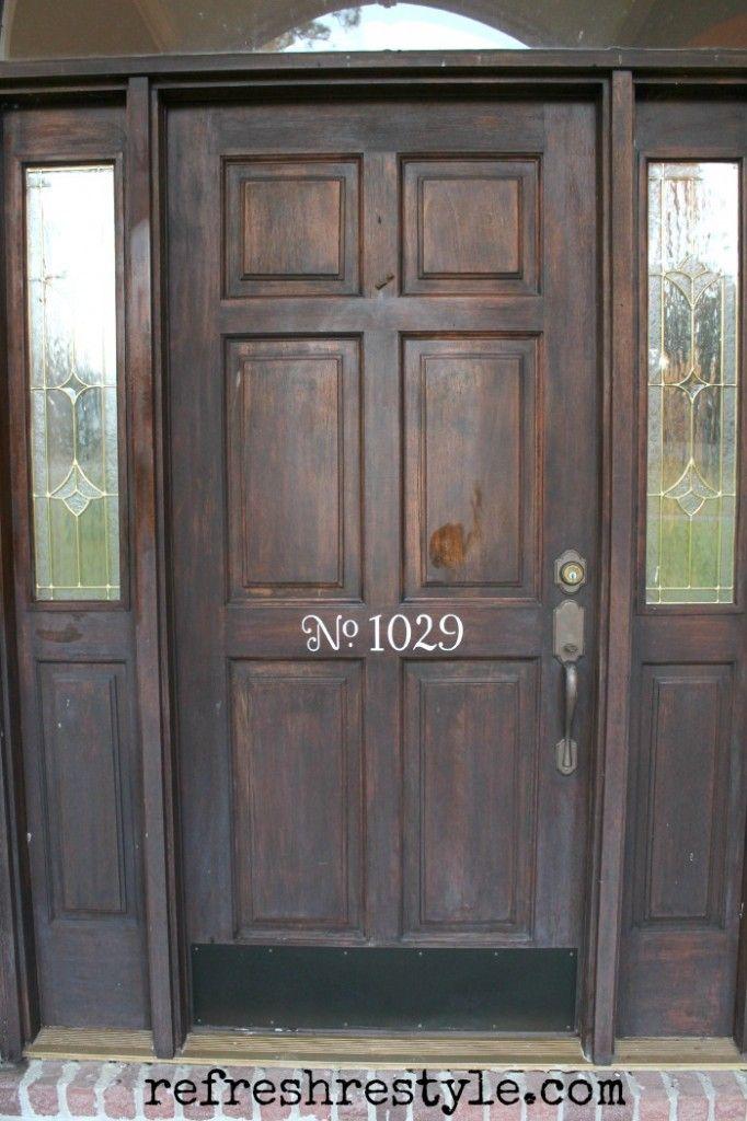 How to Stain Your Front Door | Front door makeover, Garage ...