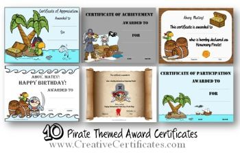 A selection of free printable award certificates with a pirate a selection of free printable award certificates with a pirate theme most of the certificate yelopaper Choice Image