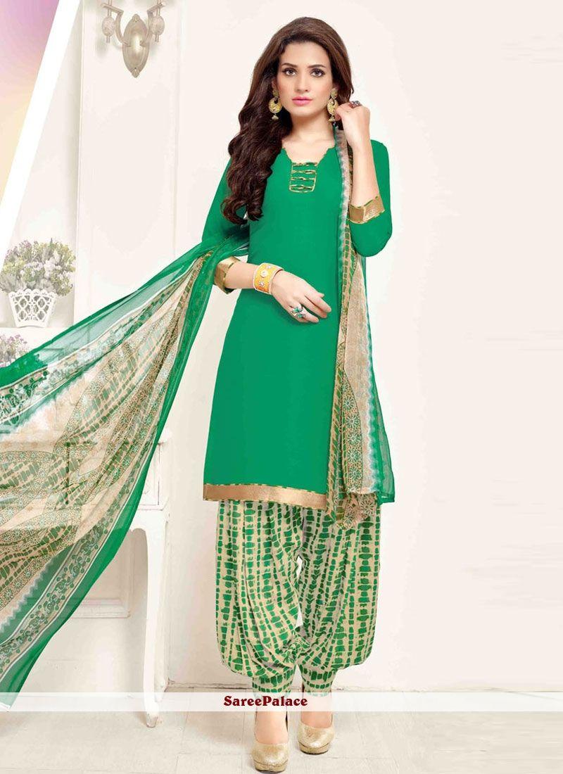 37f3df0bf Honourable Print Work Pure Crepe Designer Patila Salwar Suit in 2019 ...