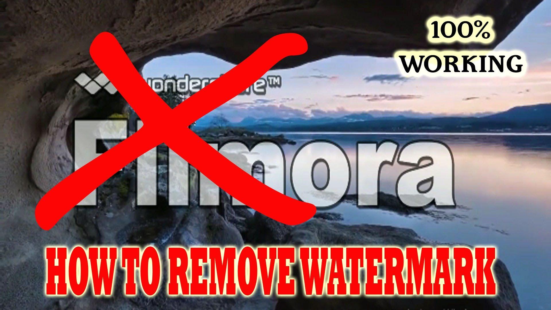 how to remove wondershare filmora logo
