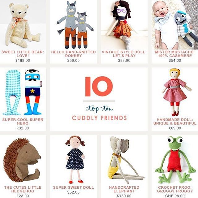 """Nice to be selected by @babyccinokids top 10 among all these beautiful cuddly toys ❤️ #leggybuddy #babyccinokids #fun #happy #cuddly #toys #peluche #bamser #handmade #crochet #kucheltier #switzerland #swiss #zurich #zürich"" Photo taken by @leggybuddy on Instagram"
