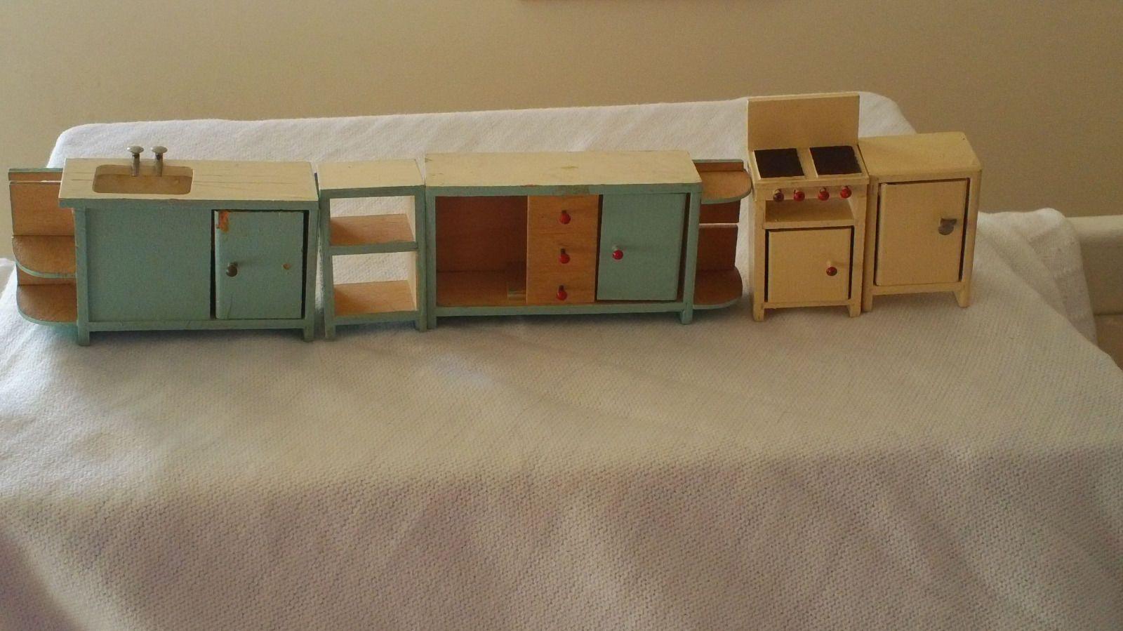 Dolls House Kitchen Furniture Vintage 1960 70s Twigg Doll House Kitchen Furniture 1 16th Scale