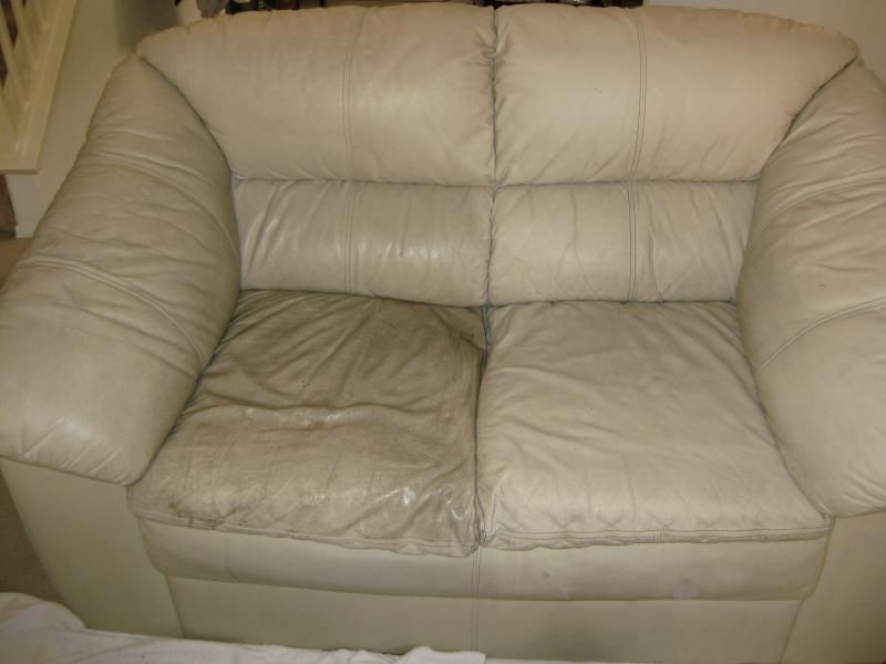 How To Clean Leather Couches Half Cleaned Couch