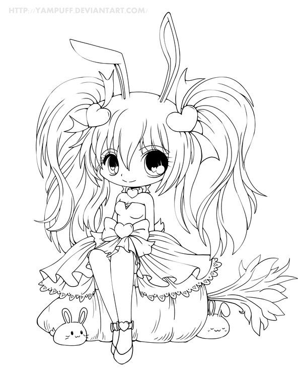 Yampuff S Deviantart Gallery Chibi Coloring Pages Cute Coloring Pages Coloring Pages For Girls