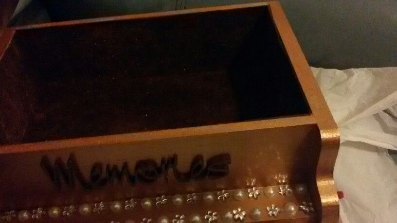 Piano jewellery box with picture