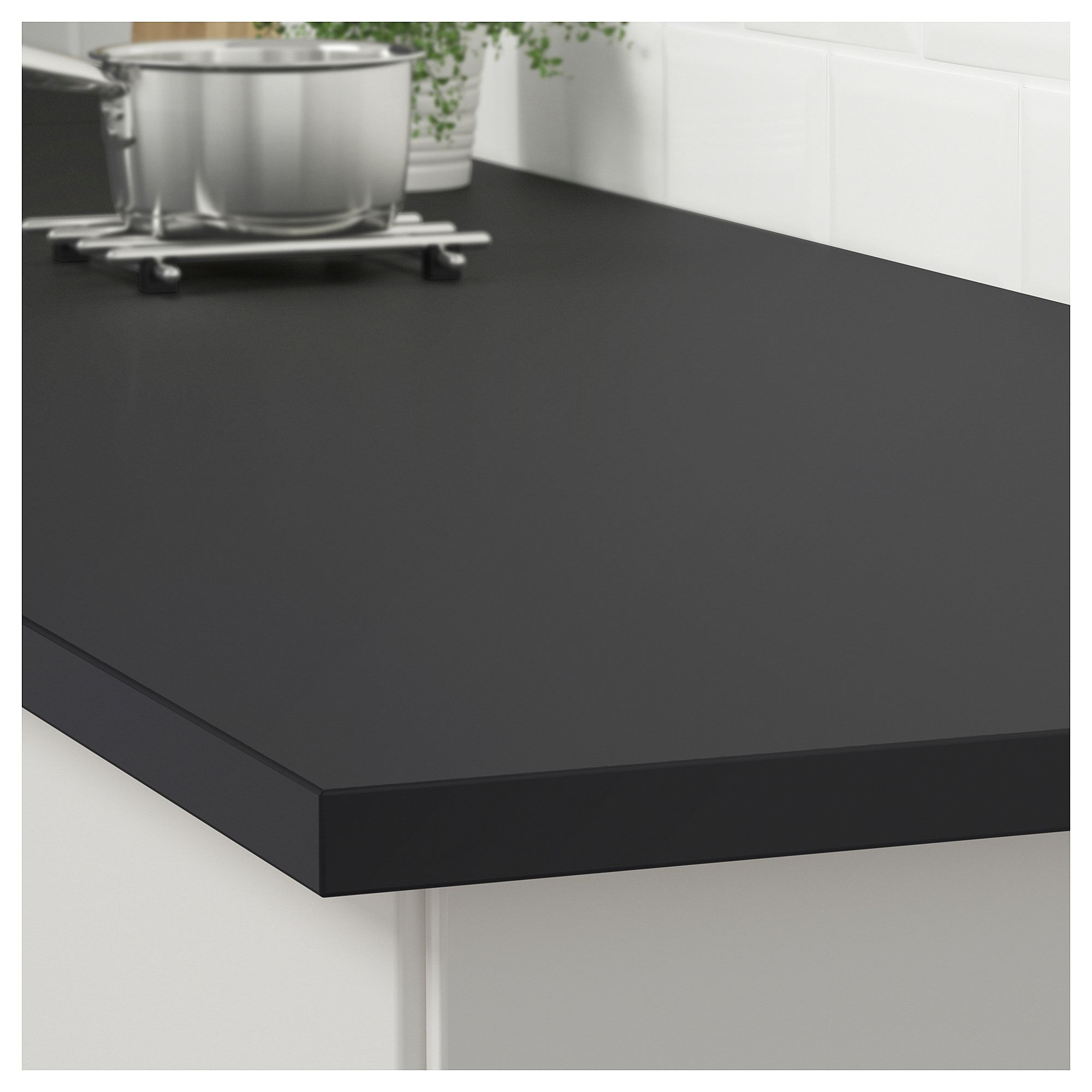 Plan De Travail Quartz Ikea.Ikea Ekbacken Matte Anthracite Laminate Countertop