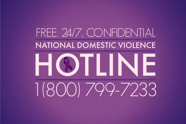 National Domestic Violence HOTLINE 1 (800) 799-7233