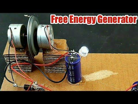 Free Energy Self Running Generator Using Dc Motor And Capacitor Youtube Free Energy Generator Free Energy Energy