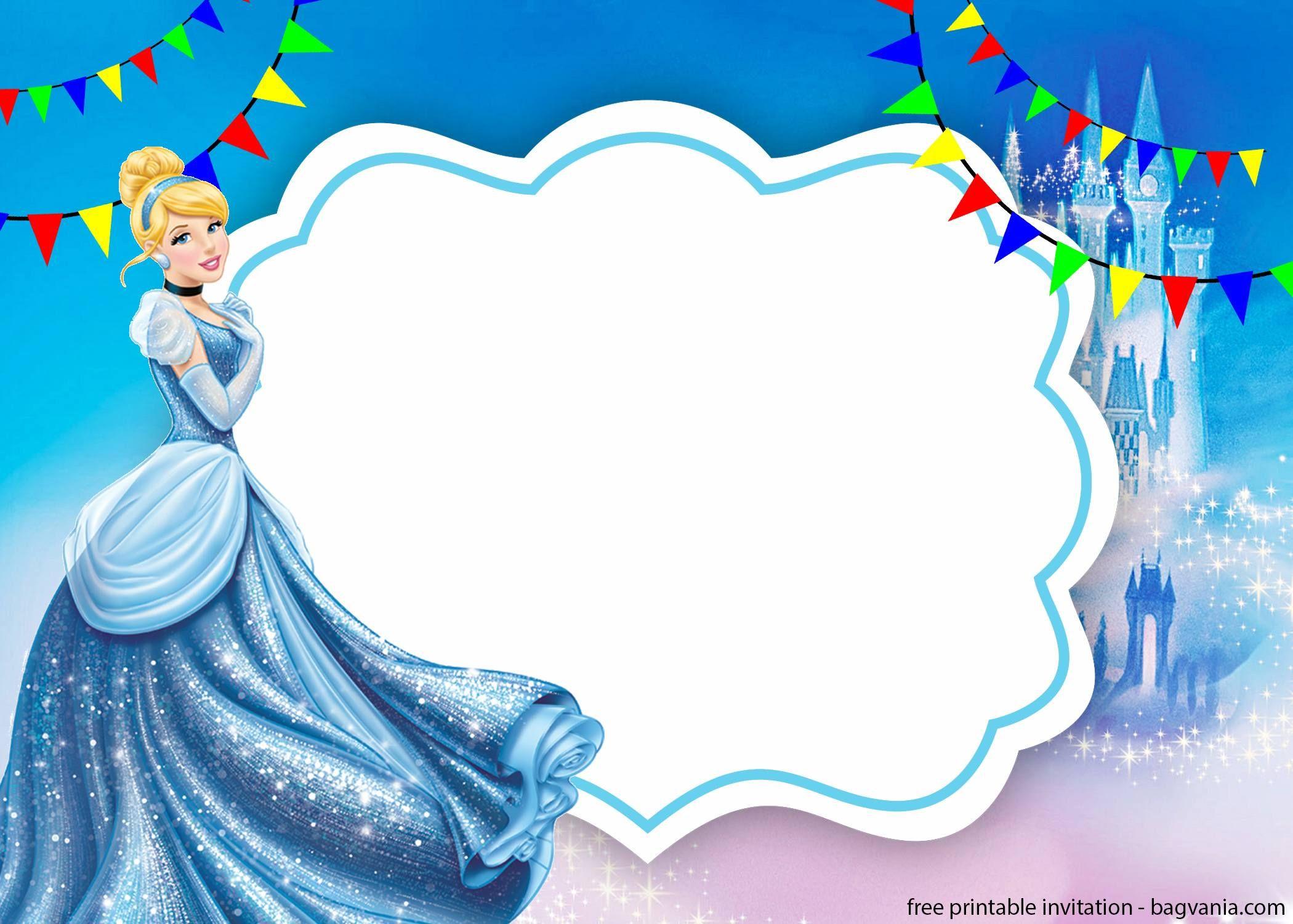 free printable cinderella invitation