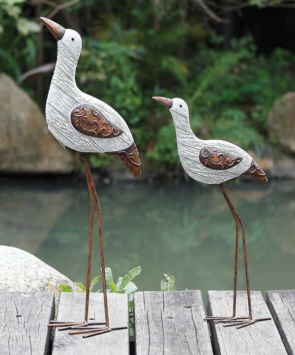 Look at this NAPCO Textured Bird Statue - Set of Two on #zulily today!