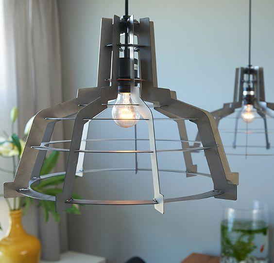 Hanglamp Detroit is industrieel en stoer, zeker in de matte ...