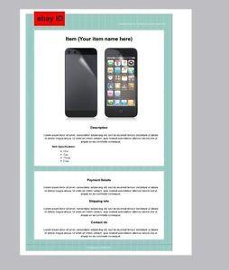 Simple Ebay Html Auction Listing Custom Template Design Hand Coded