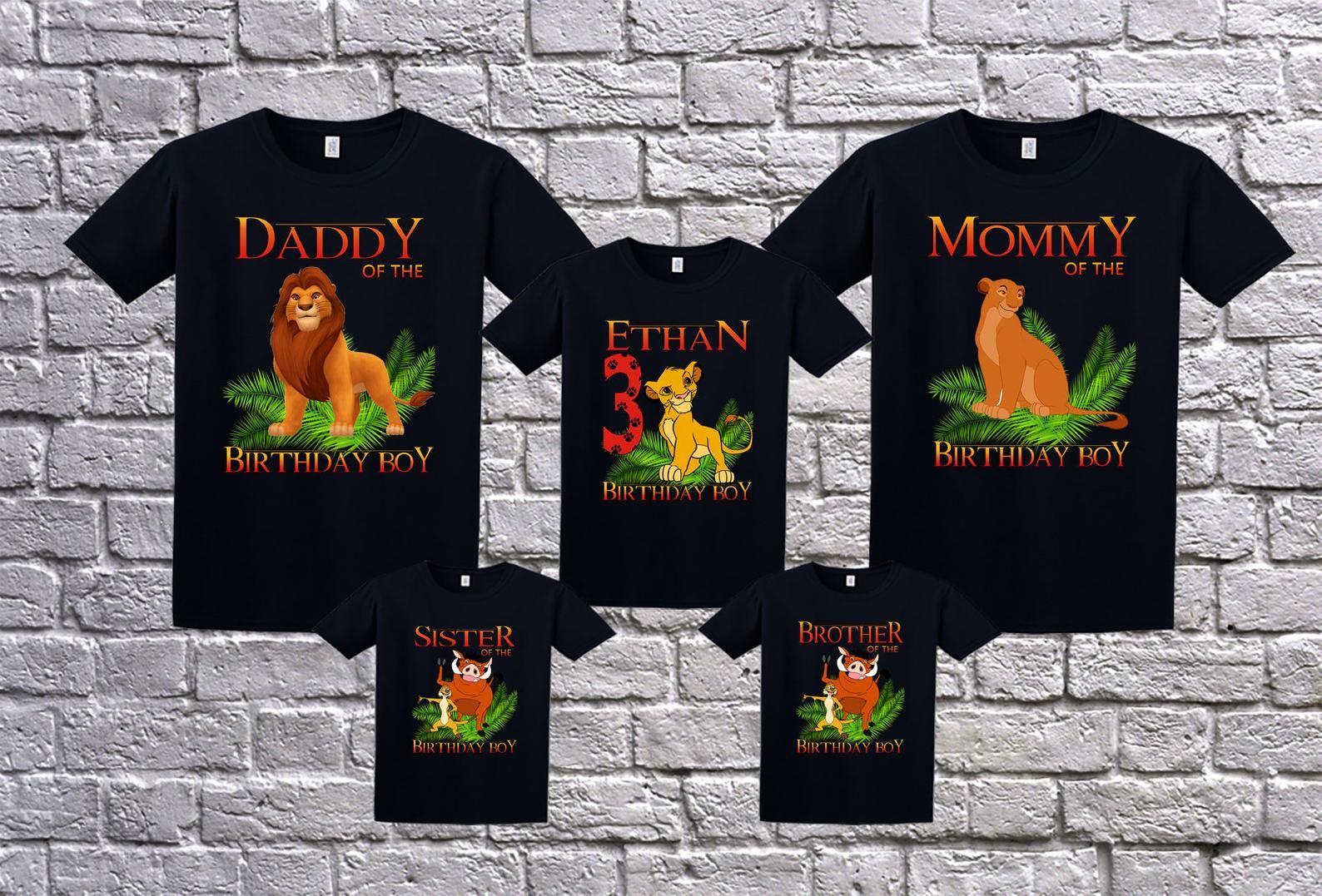 Park Art|My WordPress Blog_Lion King Family Birthday Shirts