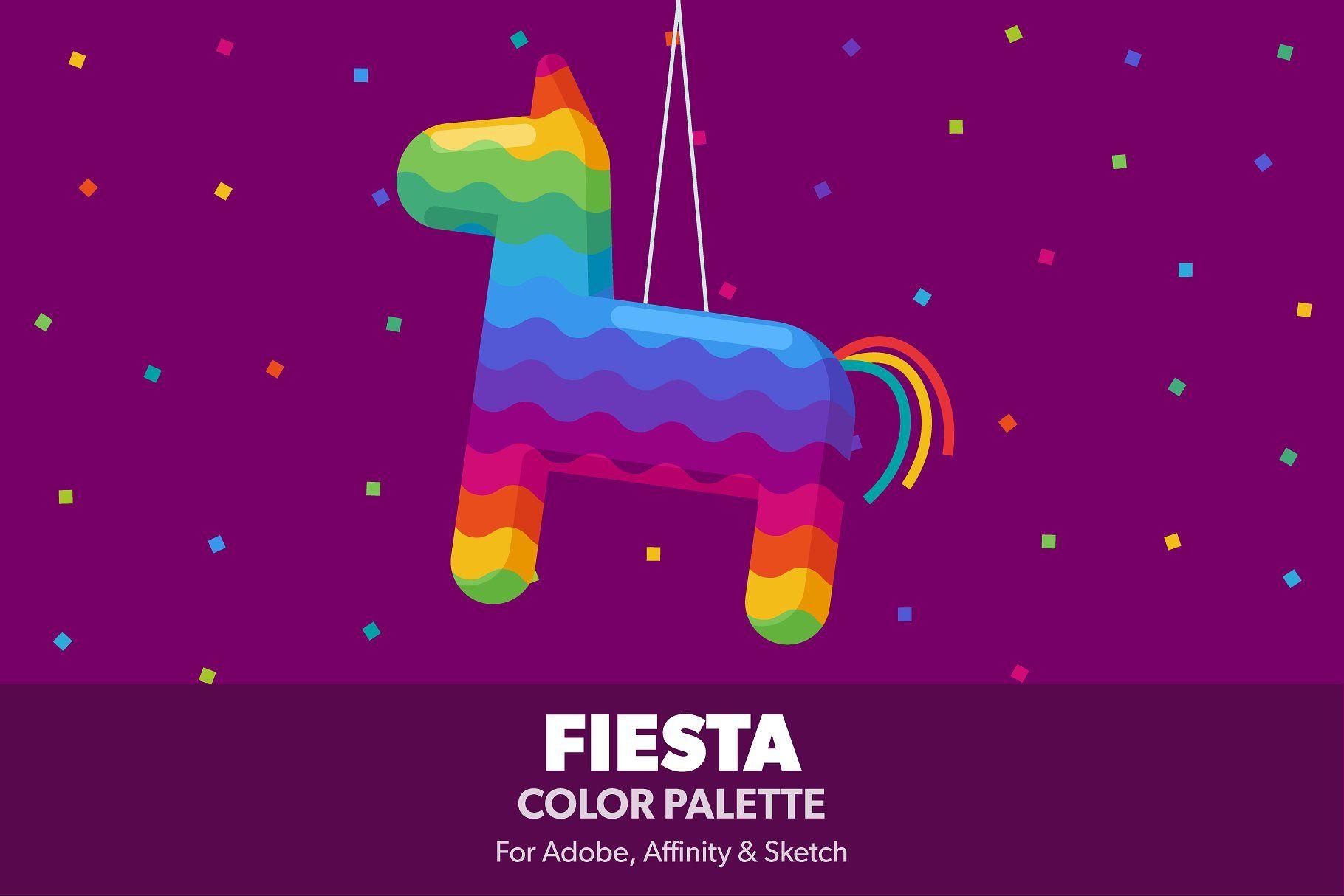 Fiesta Color Palette Illustrator Indesign Photoshop Variants