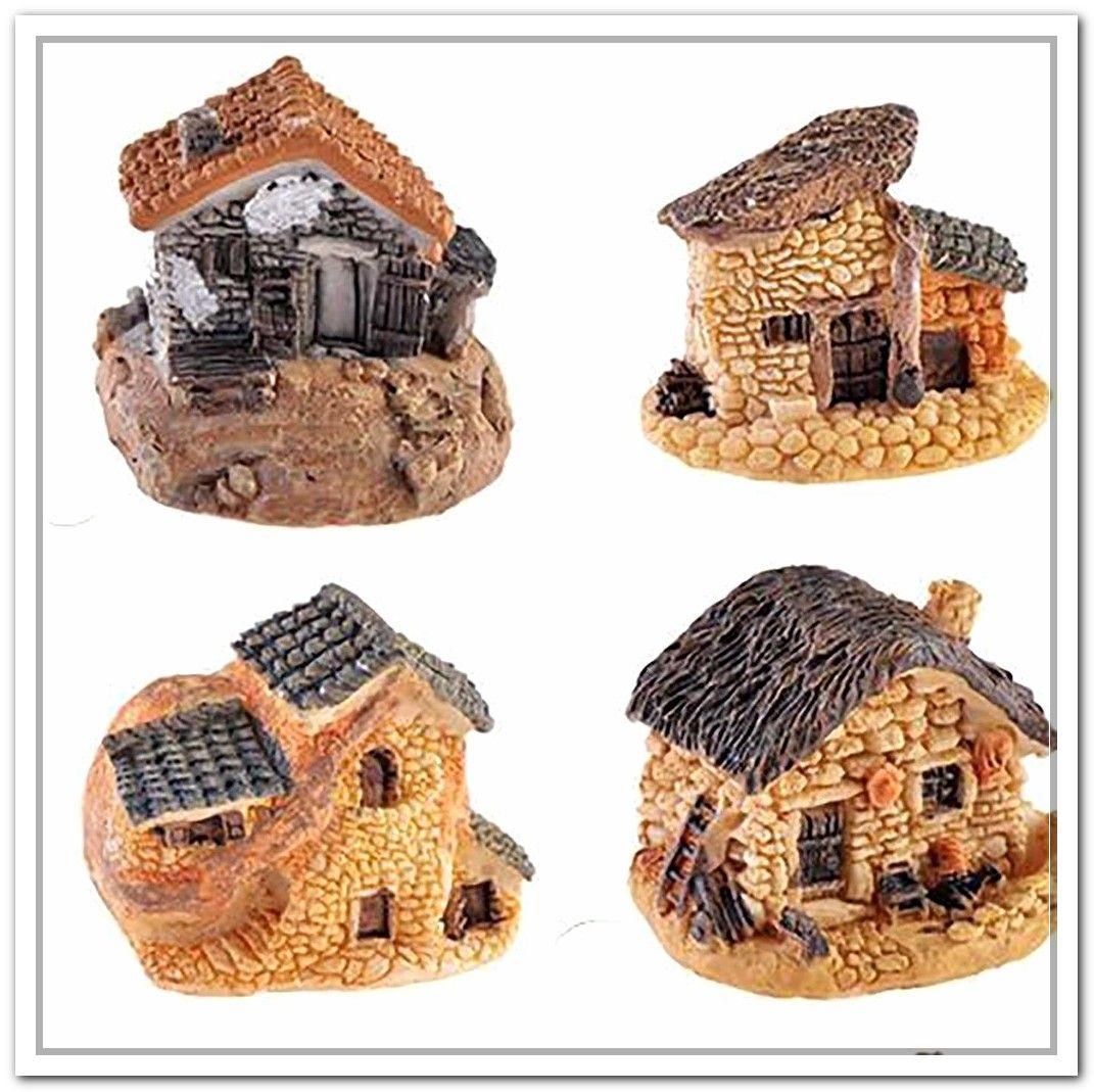 Mini Fairy Garden Miniature House Castle House Micro Landscape Resin Craft Decor