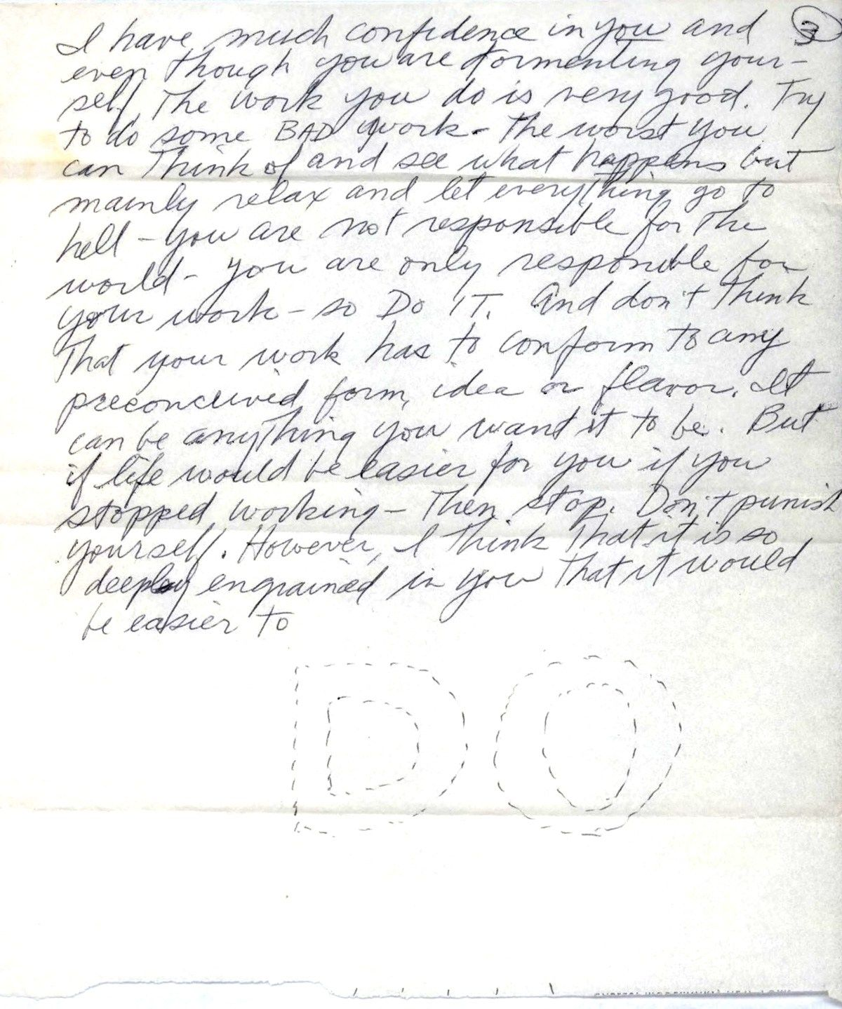 Do: Sol LeWitt's Electrifying Letter of Advice on Self