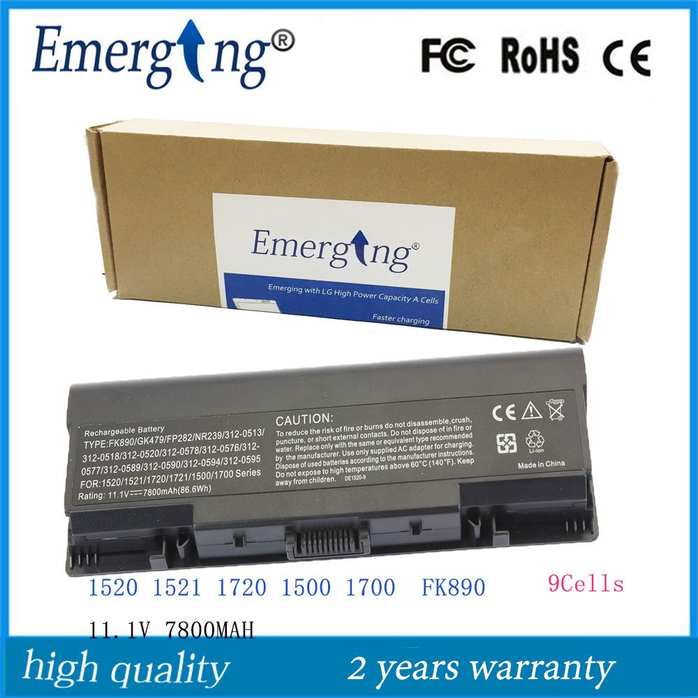 9cells 6600mah High Quality New Laptop Battery For Dell T112c T114c T116c 312 0724 Vostro 1310 1320 1510 1520 2510 New Laptops Laptop Battery Battery
