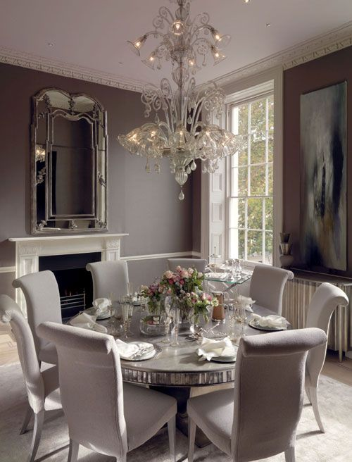 Monochromatic Dining Room Beautiful Dining Rooms Elegant Dining