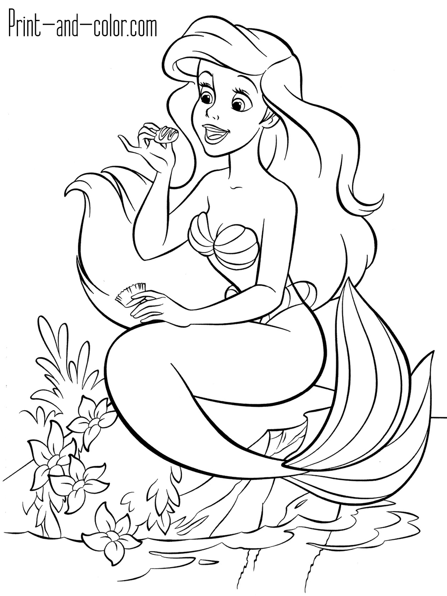 The Little Mermaid Mermaid Coloring Pages Ariel Coloring Pages Disney Princess Coloring Pages