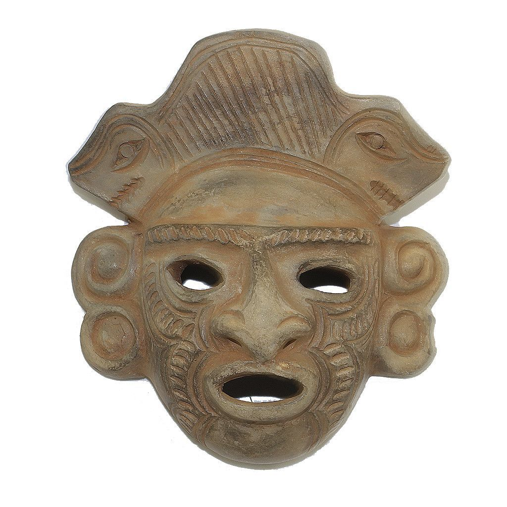 A stunning ceramic mask handcrafted by a master artisan in fine ...