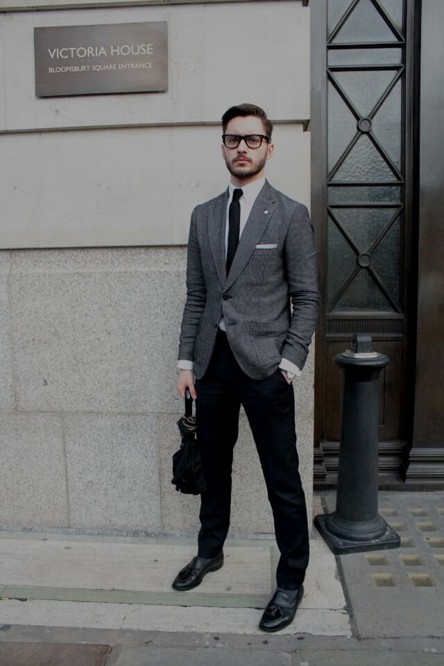 Men's Top 5 'Separates' Combinations: Black Jacket With Grey ...