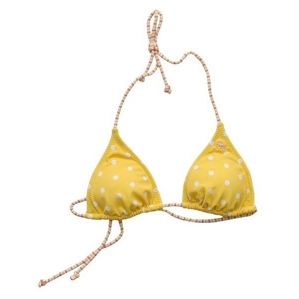 Polka dot bikini that she wore