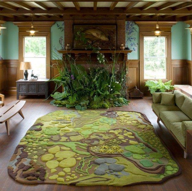 teppich design modern angelaadams naturlandschaft - Teppich Design Modern