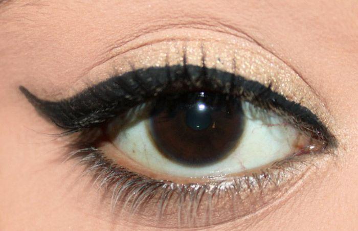 DIY Makeup Hack - How To Soften Sharp Liquid Eye Liner Look