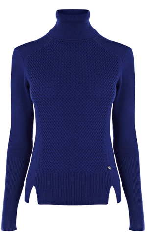 Texture and plain rollneck