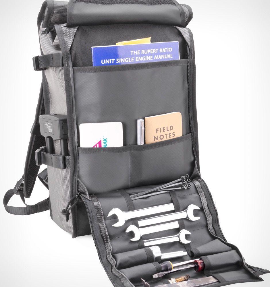 Chrome Motor Barrage Backpack - Grey Moto - Rushfaster.com.au Australia