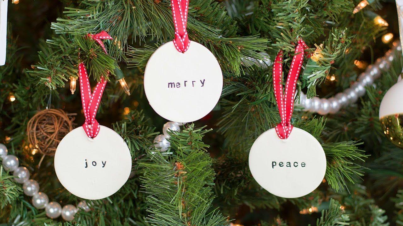 Diy Simple Farmhouse Clay Ornaments Youtube Clay Ornaments Homemade Christmas Ornaments Diy Diy Christmas Ornaments