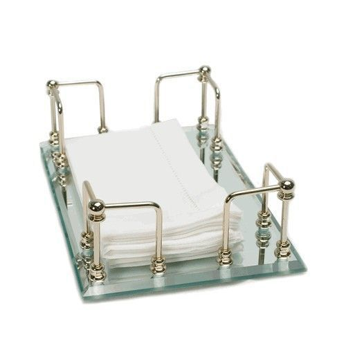 Gold Mirrored Guest Towel Holder