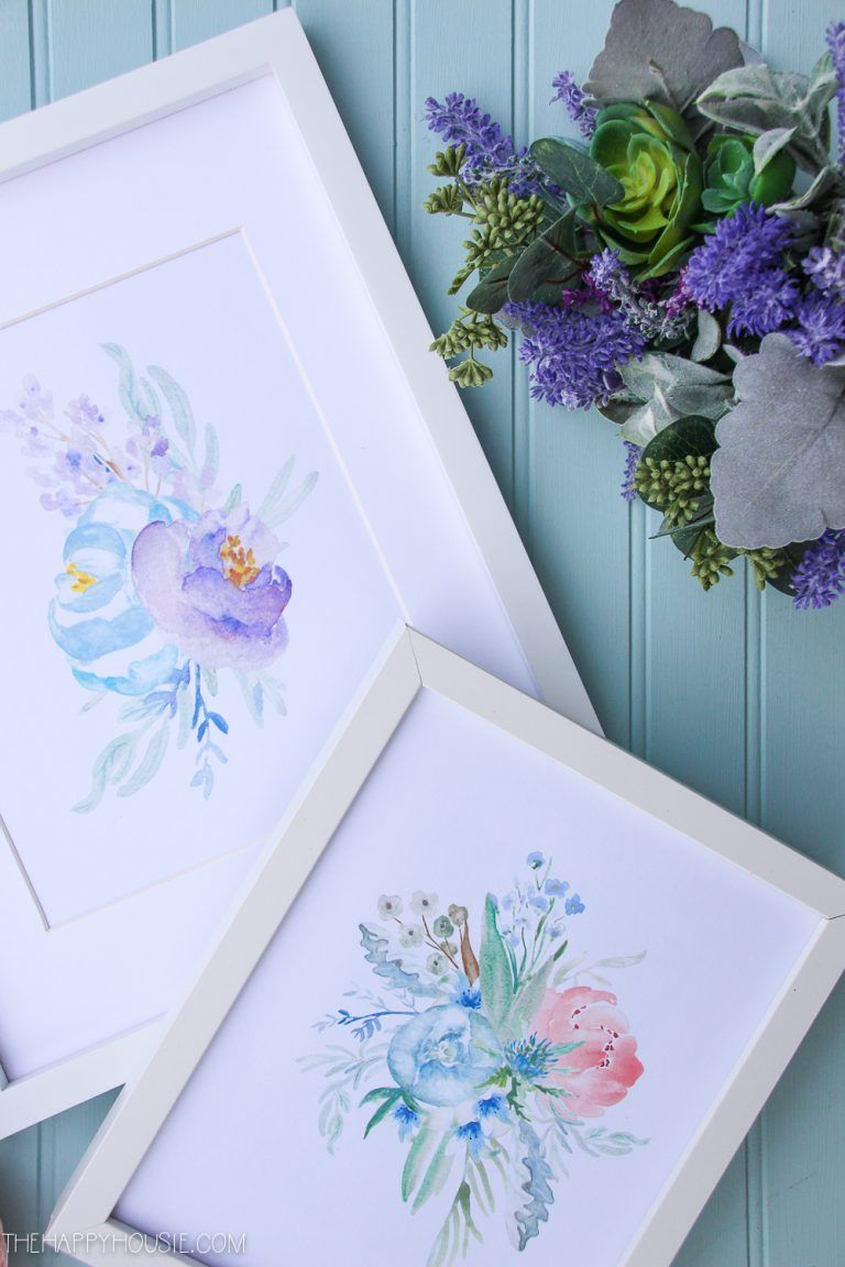 6 Free Printable Floral Watercolour Designs Prints For The Home