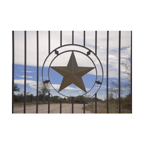 Picture Of Metal Star On Wrought Iron Fence In Texas Found On