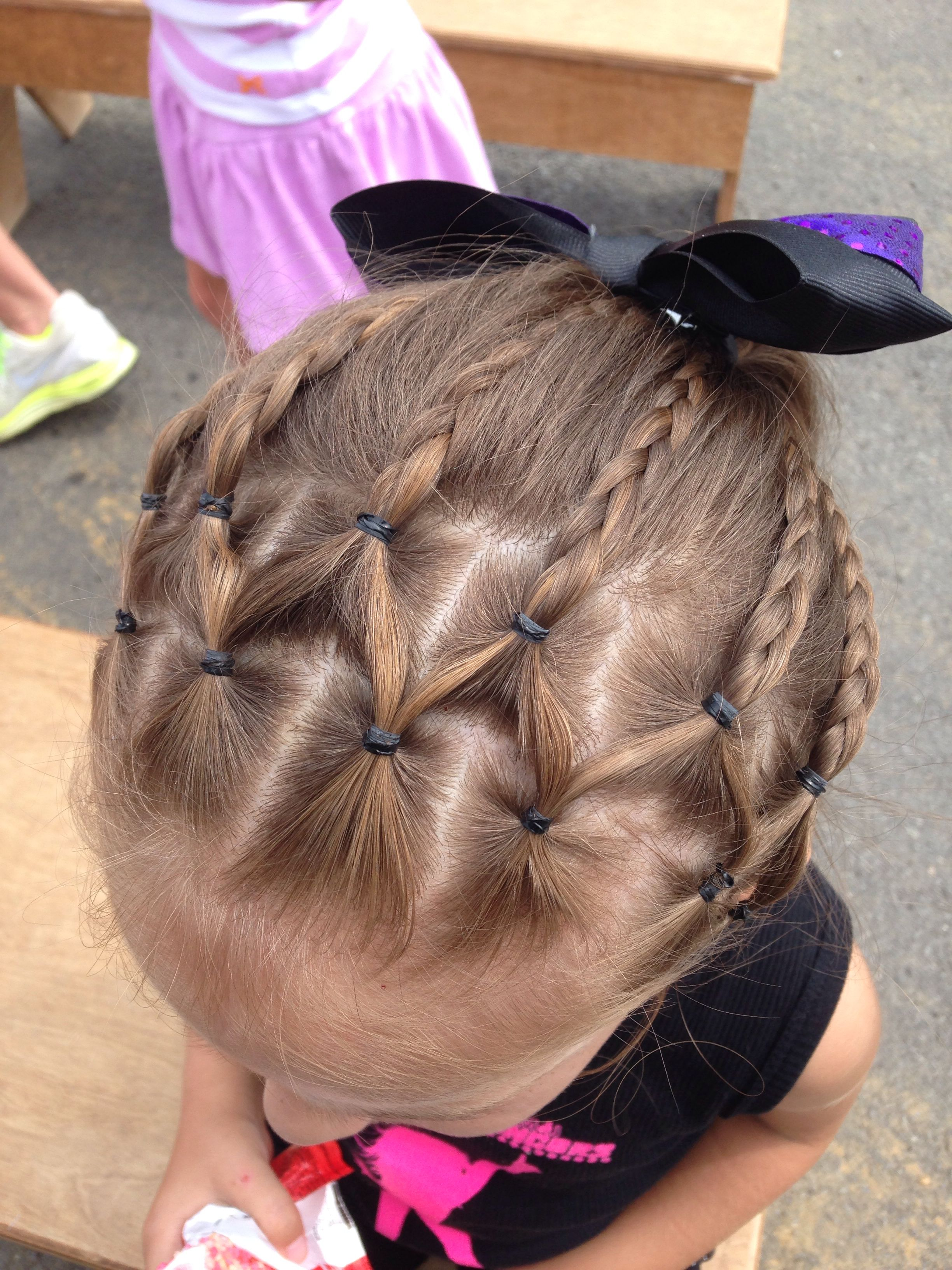 Little Girl Hairstyle Cute hair for dance recital