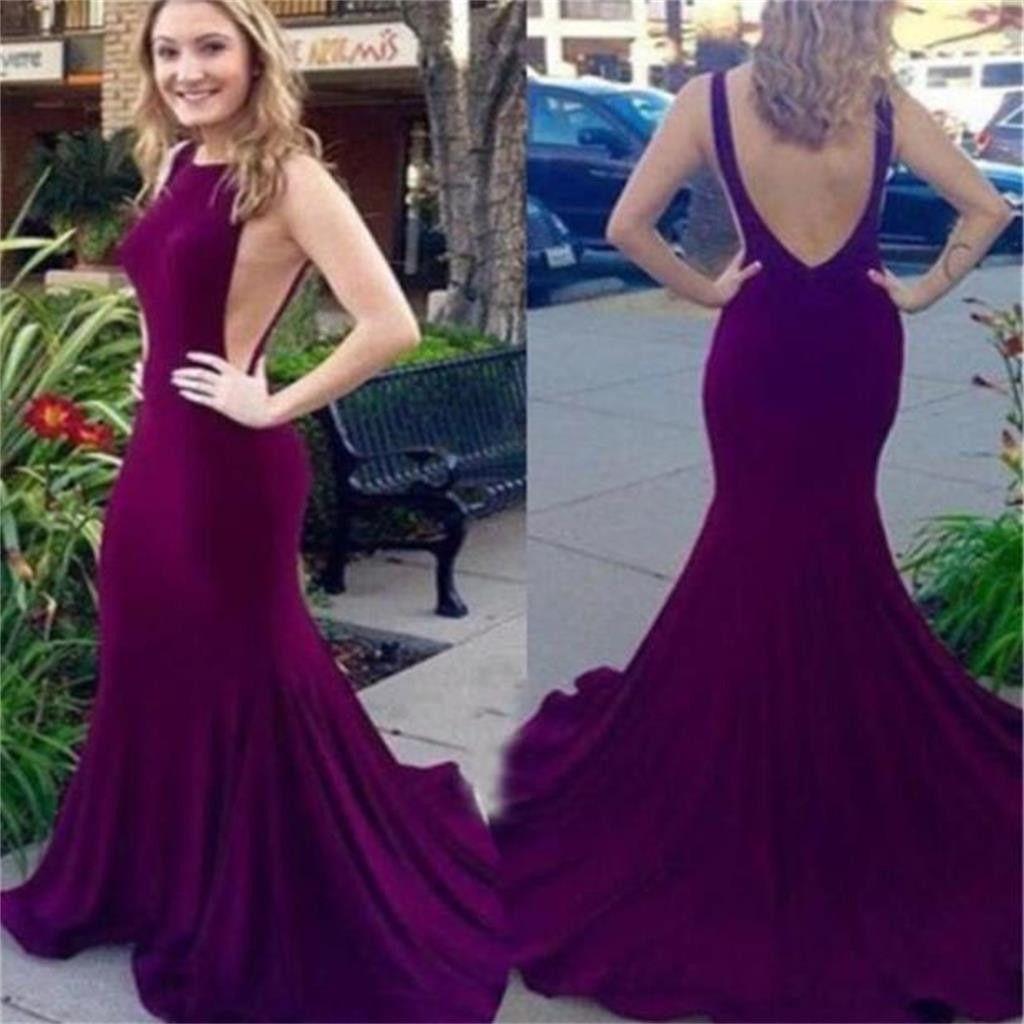 Elegant prom dressbackless prom dresssexy dress mermaid prom