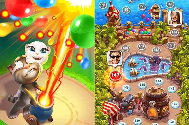 Outfit7 Limited Launches Talking Tom Bubble Shooter on