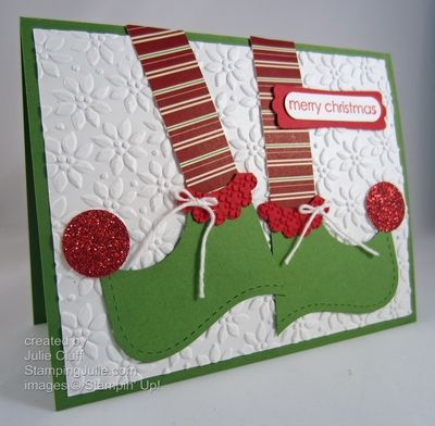 Christmas elf shoes by juliestamps cards and paper crafts at christmas elf shoes by juliestamps cards and paper crafts at splitcoaststampers m4hsunfo