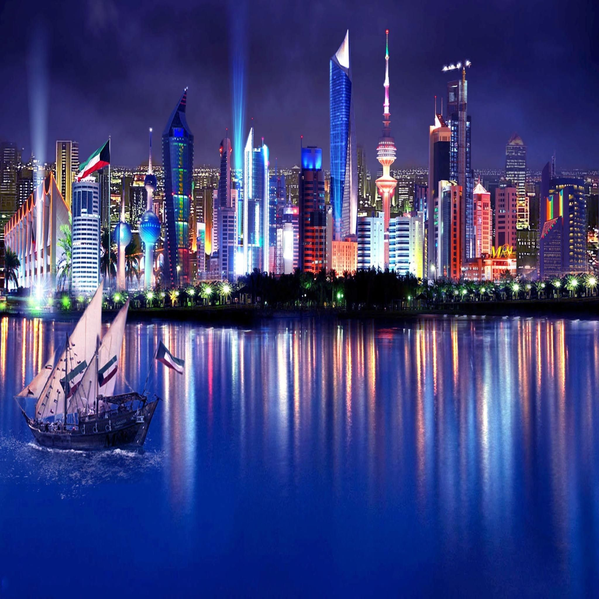 Kuwait skyline apple ipad air wallpaper places i d for Home wallpaper kuwait