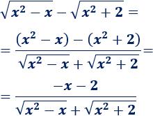 Escribimos La Resta De Raíces Raíz X 2 X Raíz X 2 2 Como El Cociente X 2 Raíz X 2 X Raíz X 2 2 Calculo De Limites Polinomios Límites