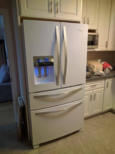 French Door Refrigerator In Monochromatic Stainless Steel WRX735SDBM At The Home  Depot   Mobile