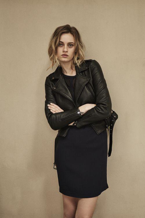 Robe cuir noire ikks