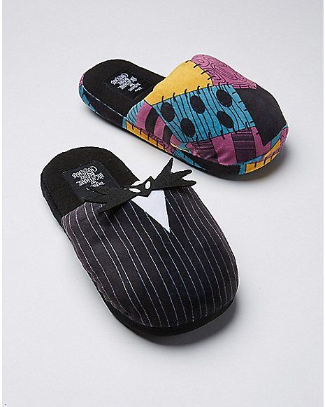 jack and sally slippers the nightmare before christmas spencers