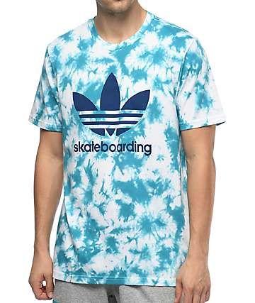 adidas Crystal 3.0 Blue Tie Dye T Shirt | Tie dye t shirts