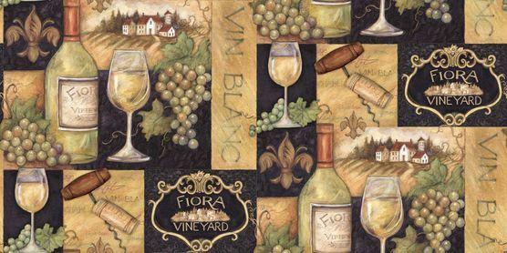 Susan Winget Fabric- Vintage Wine Vineyard Toast at Joann com