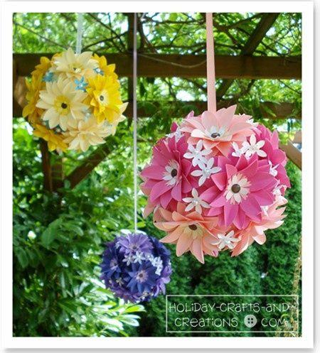 Hanging flower balls paper flower upon paper flower and attach by hanging flower balls paper flower upon paper flower and attach by pin centers onto styrofoam mightylinksfo